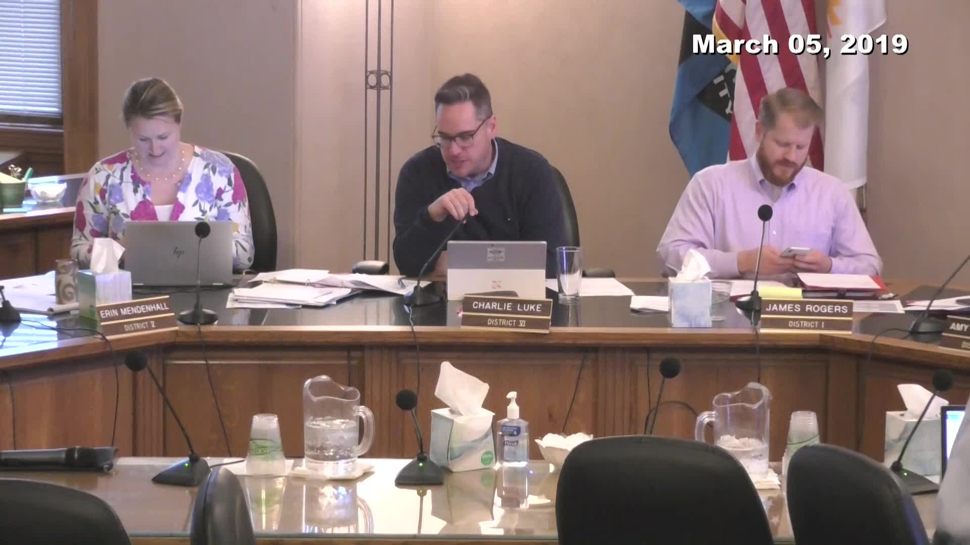 City Council Work Session - 03/05/2019