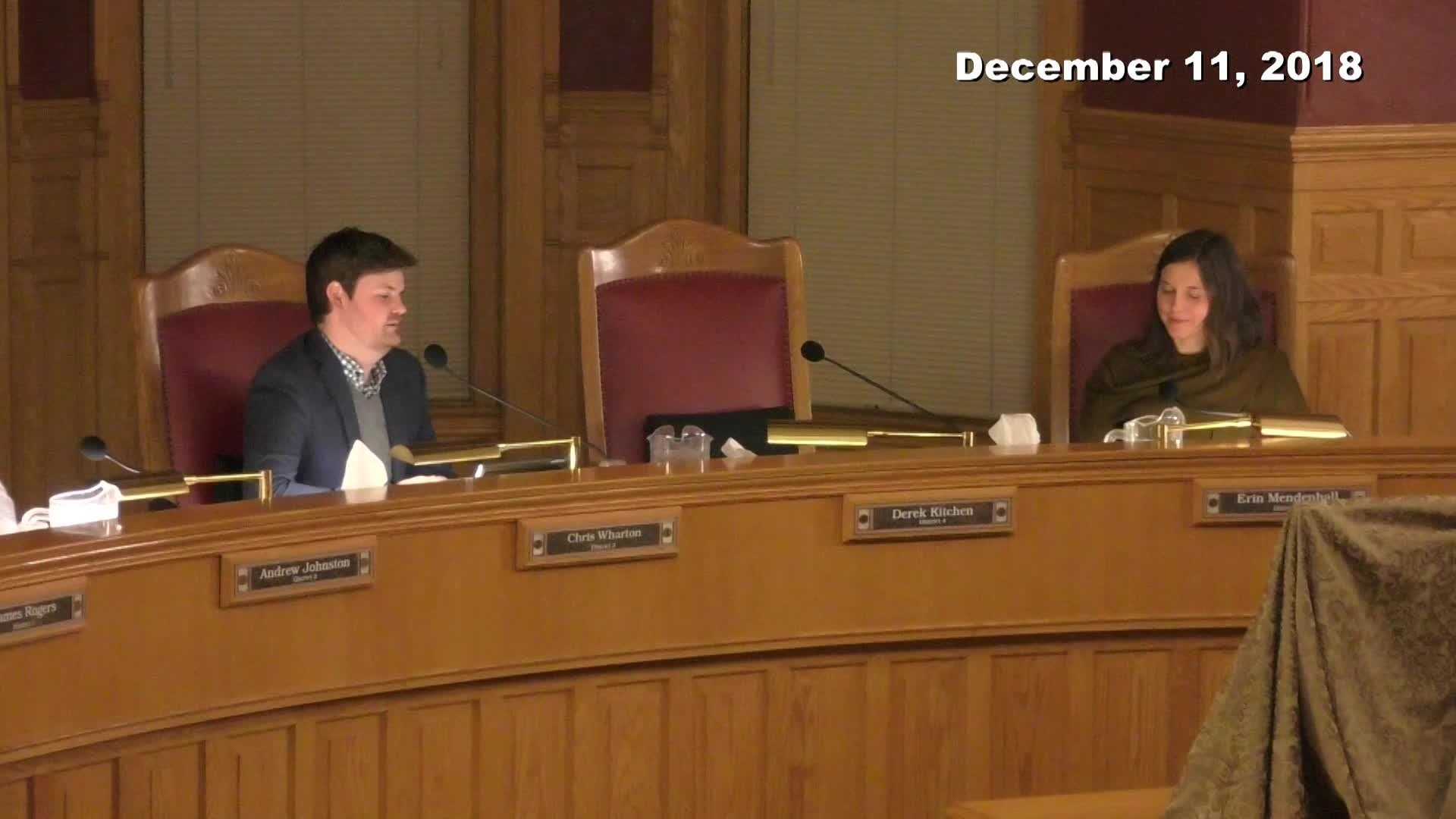 City Council Formal Meeting - 12/11/2018