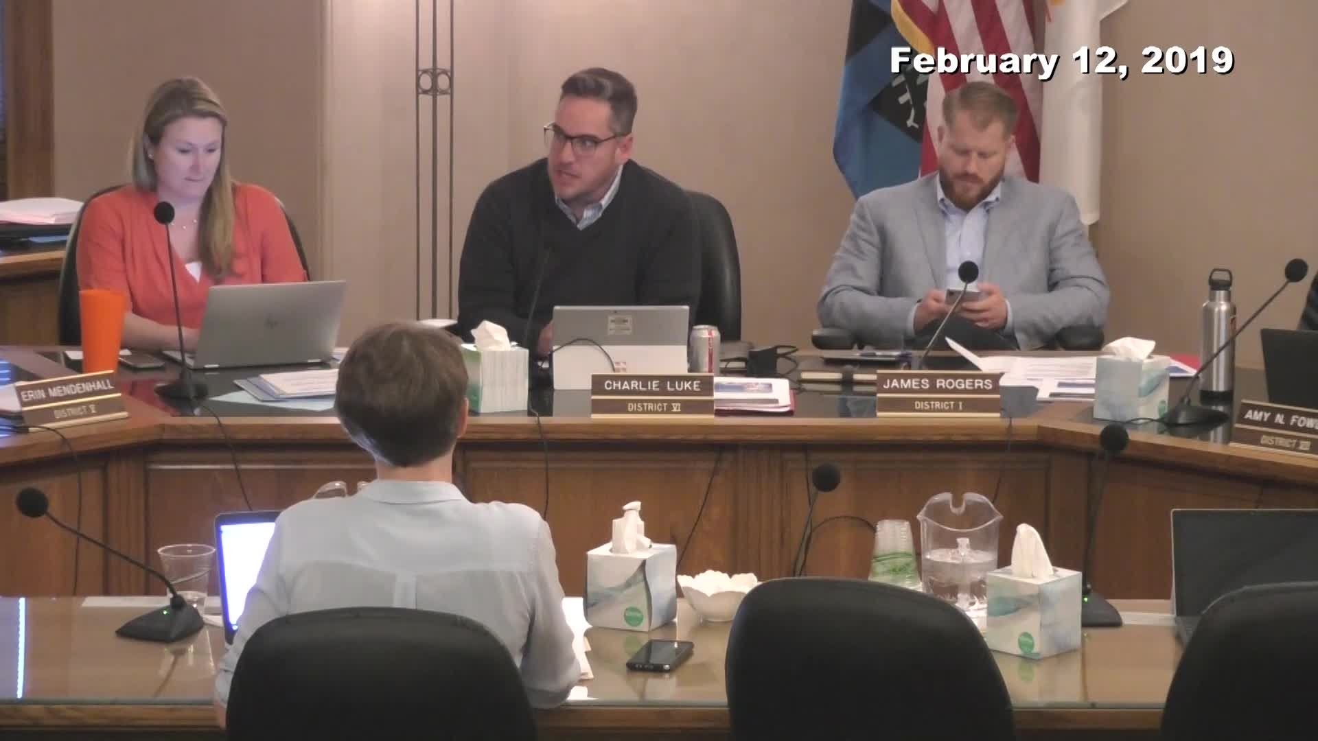 City Council Work Session - 02/12/2019