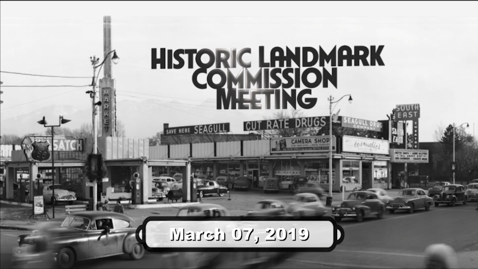 Historic Landmarks Commission Meeting - 03/07/2019