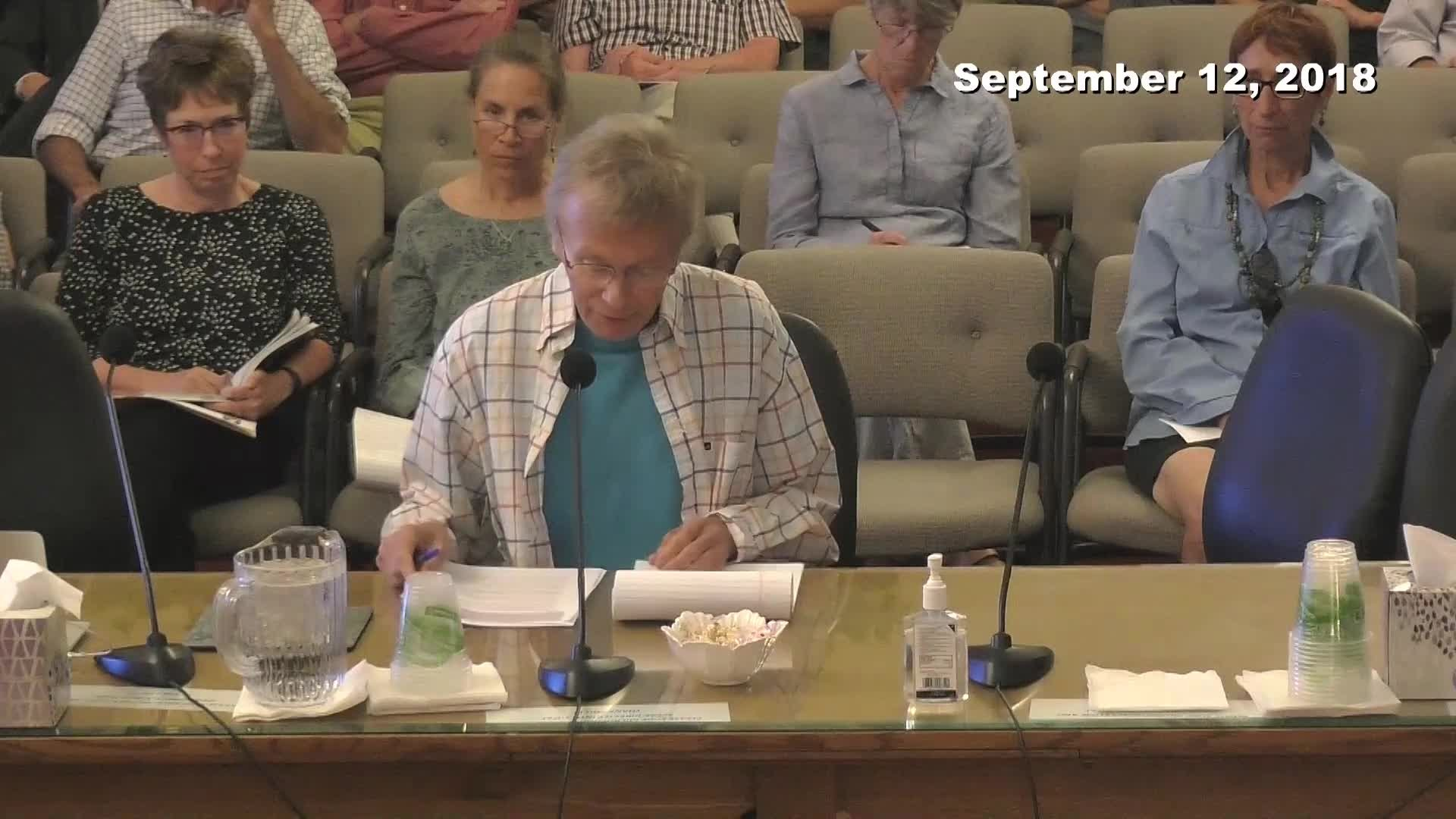Planning Commission Meeting - 09/12/2018