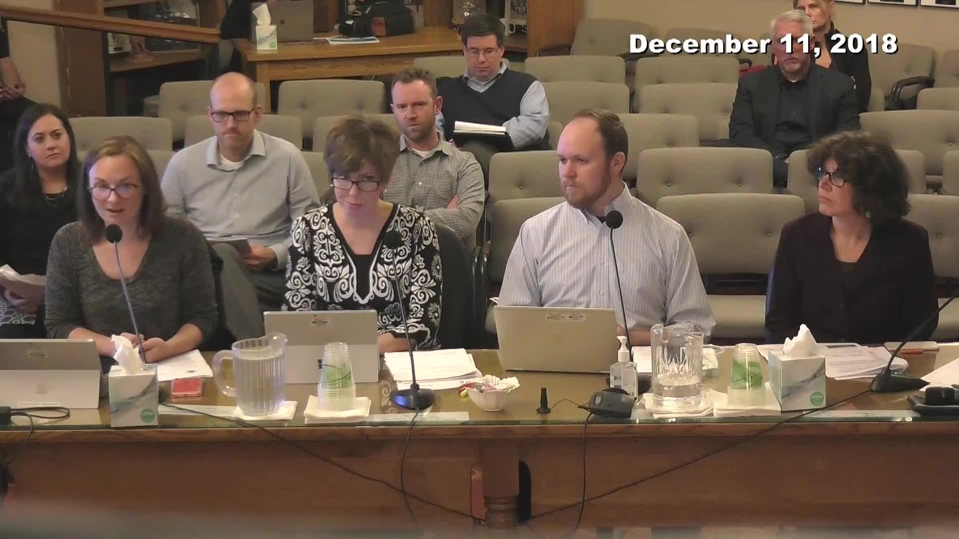 City Council Work Session -12/11/2018