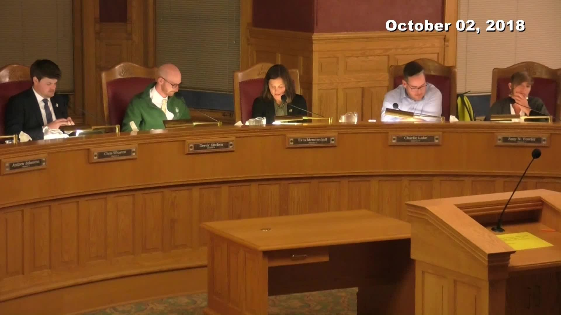 City Council Formal Meeting - 10/02/2018
