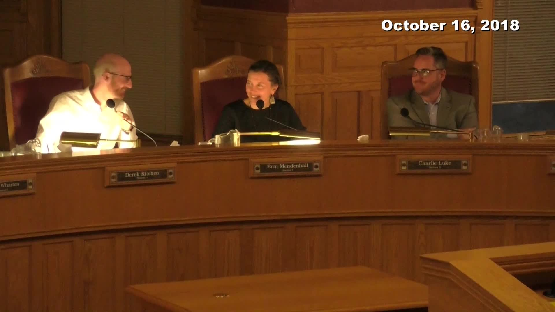 City Council Formal Meeting - 10/16/2018