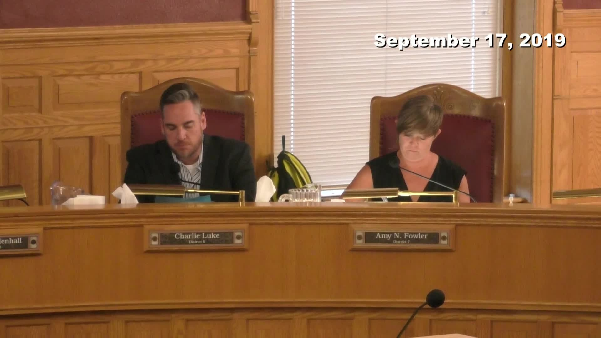 City Council Formal Meeting - 09/17/2019