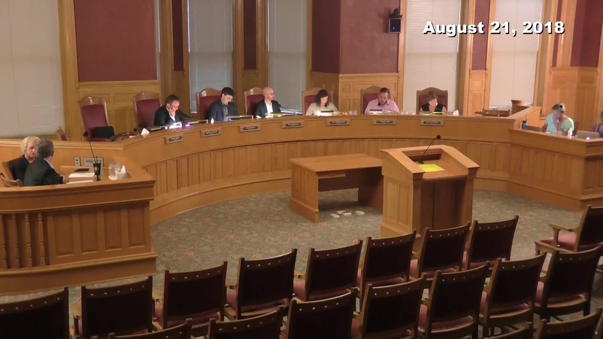 City Council Formal Meeting - 08/21/2018